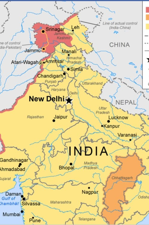 Manali India Map.Indian Community Takes On Sbs Over Distorted Kashmir Map Indian Link
