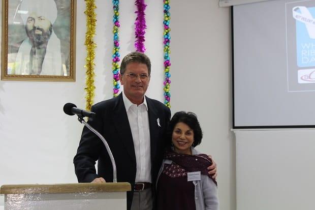 Ted Bailieu with Dr Manjula O'Connor