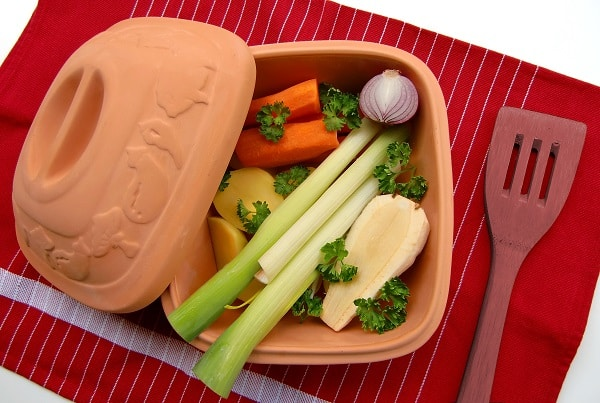 packed lunchbox with cut vegetables