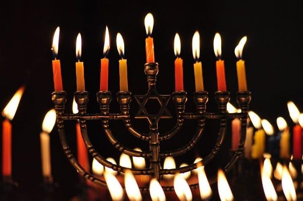 lighting menorah for hanukkah