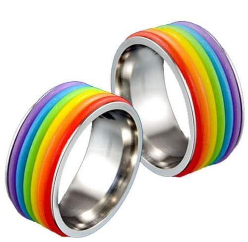 rainbow rings.Indian Link