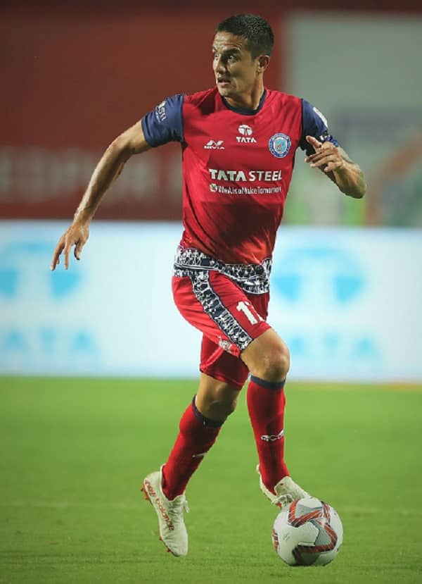 Tim Cahill in action, playing football