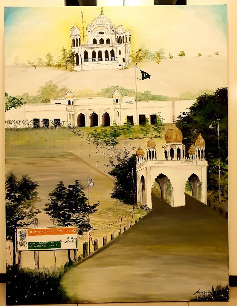The Kartarpur Corridor painting