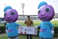 BCCI  President Sourav Ganguly at Eden Gardens cricket stadium