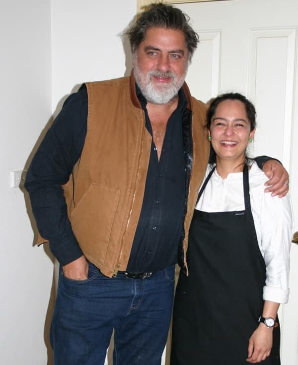 Celebrity chef and writer Matt Preston with Helly Raichura