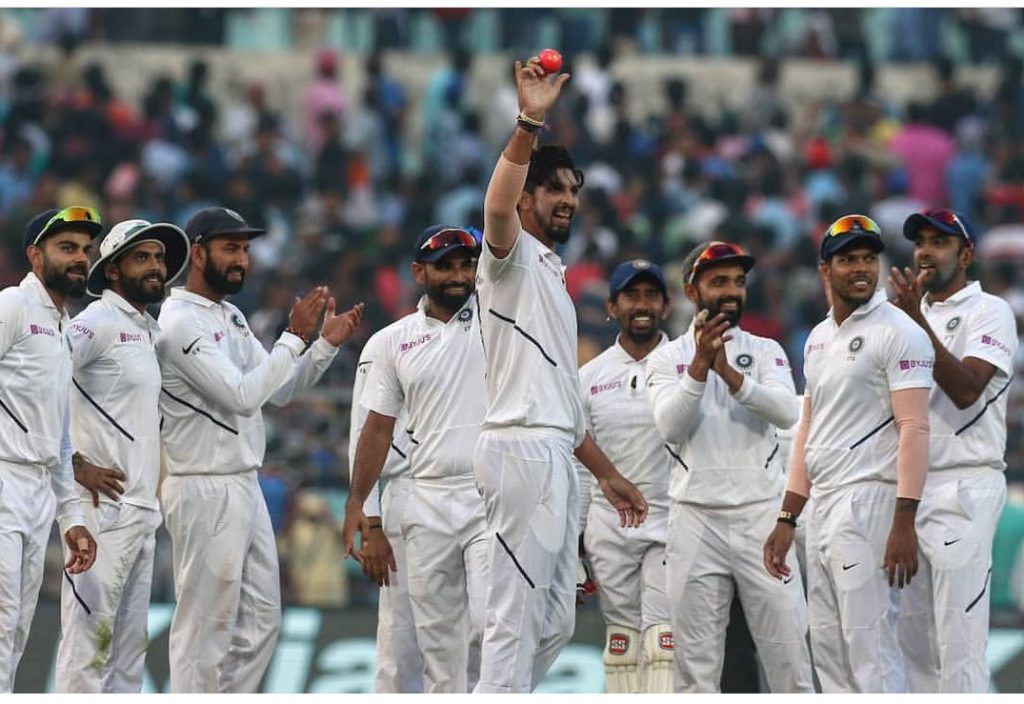 India wins the maiden Pink Ball Test match against Bangladesh (Source: BCCI Twitter)