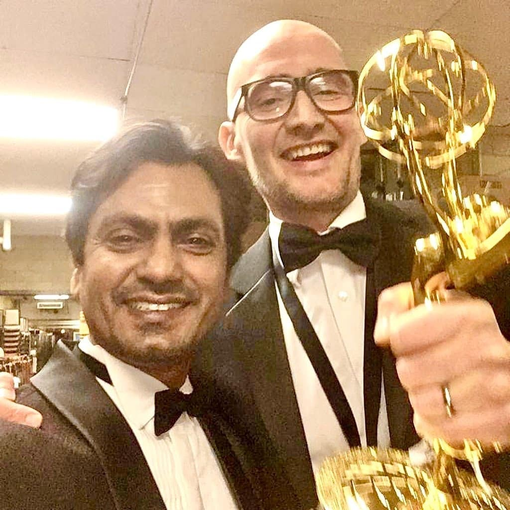 Nawazuddin with McMafia director James Watkins