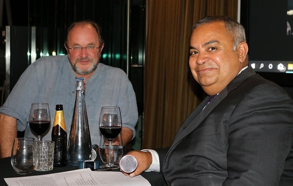 William Dalrymple with Pawan Luthra