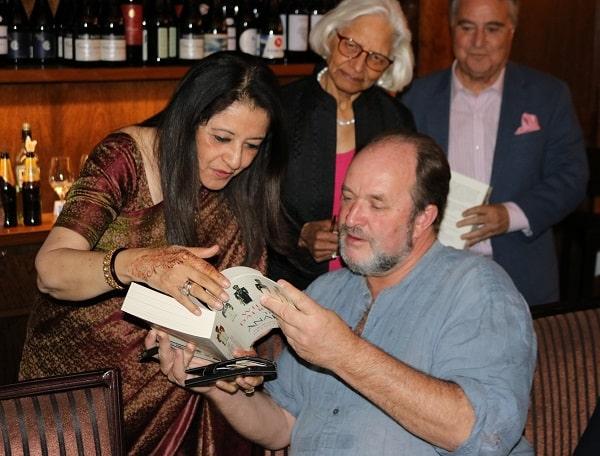 Mala Mehta with William Dalrymple
