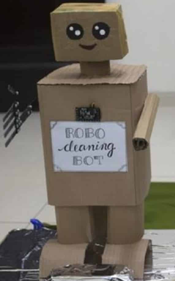 Wesrebot Robot made by  Putsala Harshith  Source: https://english.alsiasi.com/index.php/2019/12/04/boy-in-uae-creates-eco-robot-to-be-be-showcased-at-expo-2020/