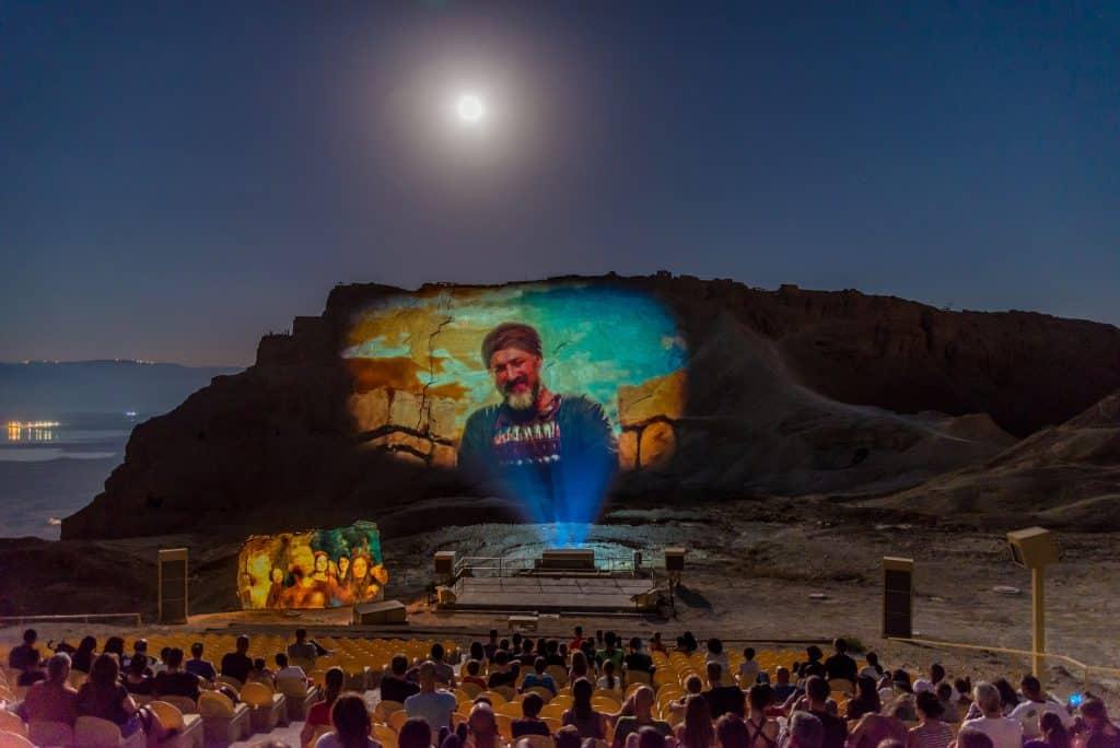 Israel's Mount Masada turns 'screen' for night show