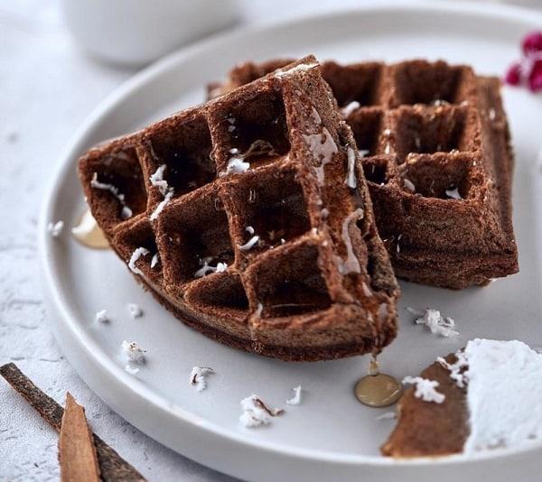 Ragi Waffles for breakfast. www.indianlink.com.au