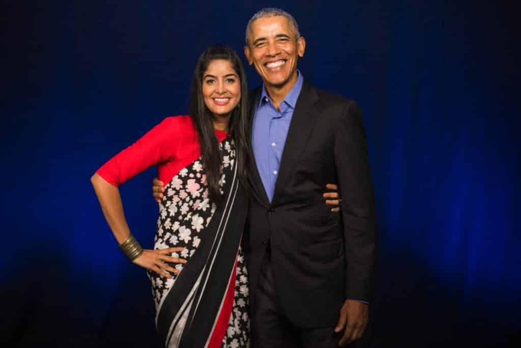 Anisha Dixit with Barack Obama