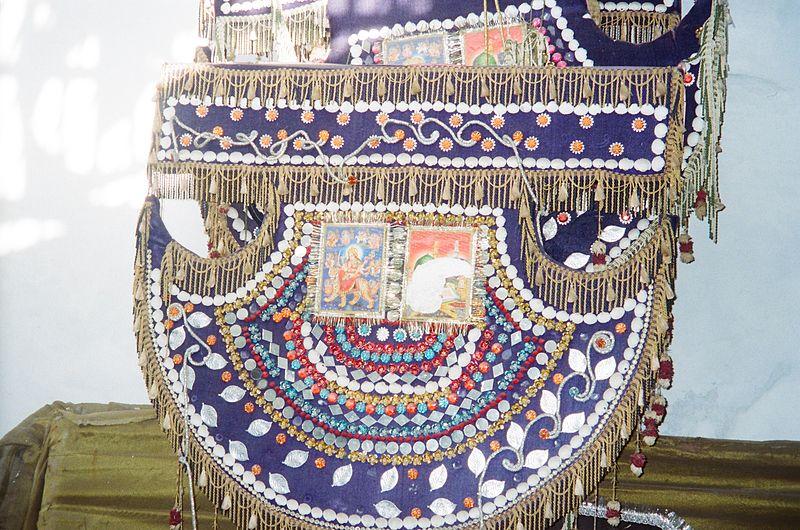 Floral pankha at the famed Phool Walon ki Sair