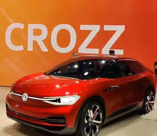 Volkswagen India on Thursday unveiled a concept electric car 'ID CROZZ' at the Auto Expo 2020 here. Its design is a combination of an SUV and a coupe.