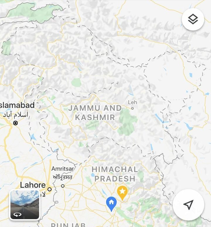 Kashmir marked 'disputed' on Google Maps for people outside India