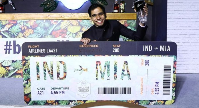 Says Vineeth Krishnan who won the Bacardi Legacy Cocktail Competition 2020 India