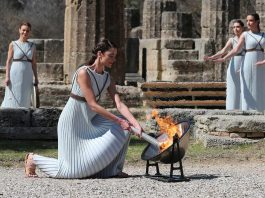 Olympic flame lit amid uncertainty due to coronavirus