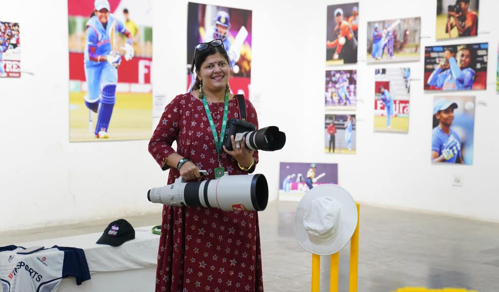 A rare Indian woman in cricket photography, Abhilasha was in Australia recently for the ICC T20 Women's World Cup