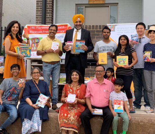 The '146 Fairwater Boulevard Free Fun Library', a new community venture, is the first of its kind in Blacktown.