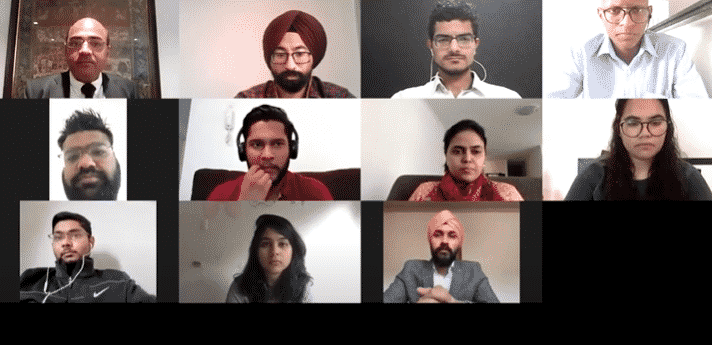 ten student ambassadors who were part of a virtual interaction with Gurnam Singh, founder of AISECS, and the Counsel General of India in Sydney