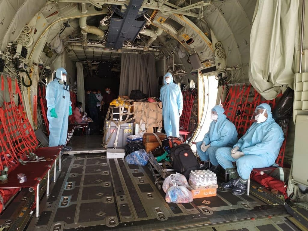 The IAF has stepped up its efforts to meet all the emerging requirements during the ongoing novel coronavirus pandemic by airlifting medicine and ration
