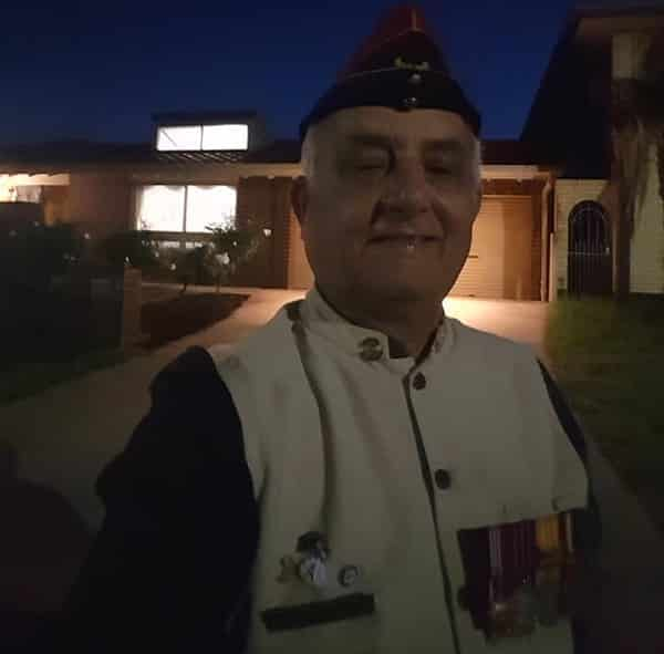 Indian community veterans turn out for their own Driveway Dawn Service