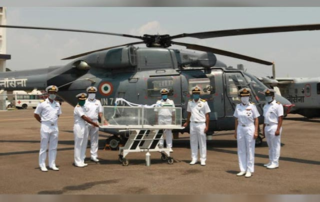The Indian Navy has announced the design of a new 'air evacuation pod' that will be used to transfer coronavirus patients from remote areas