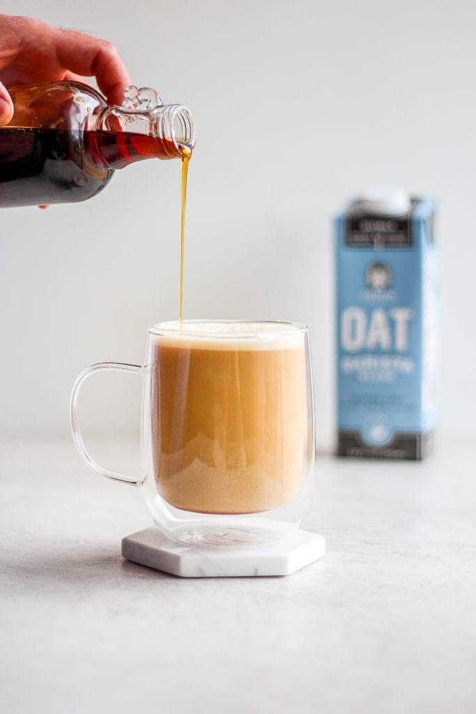 maple oat latte