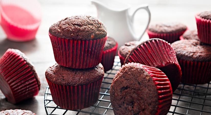 chocolate prune banana muffin