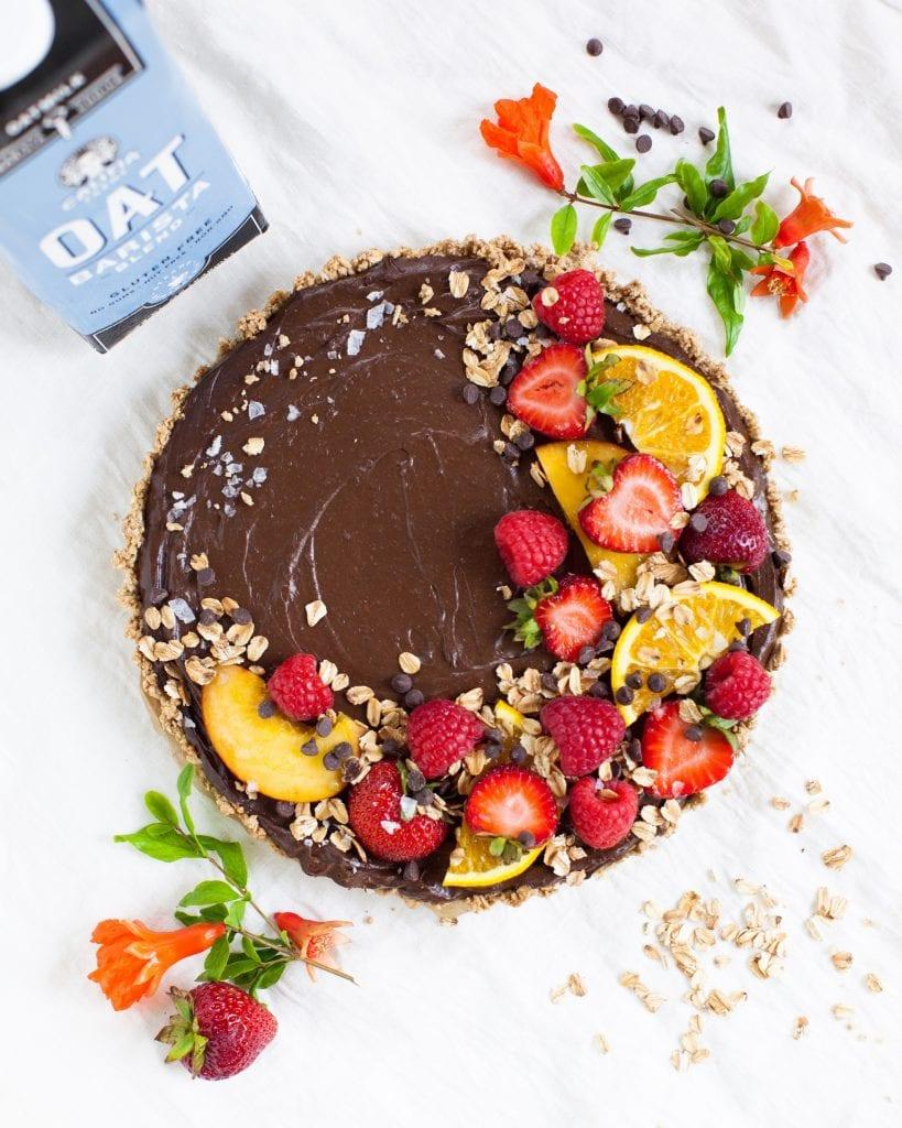 oat choco tart