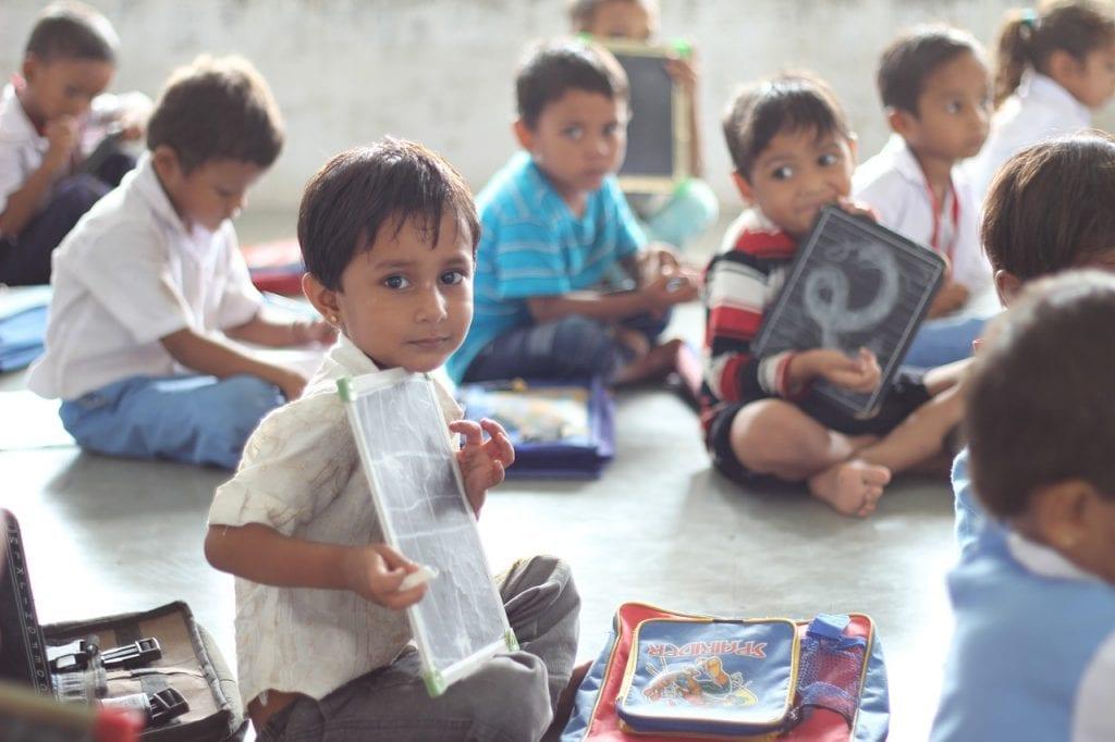 india school child
