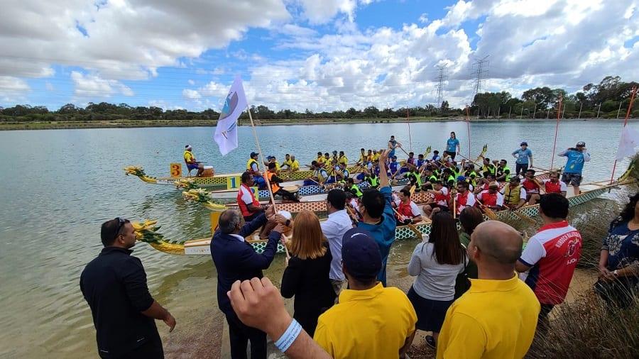 Jalvolsavam (Water Festival) snake boat race perth