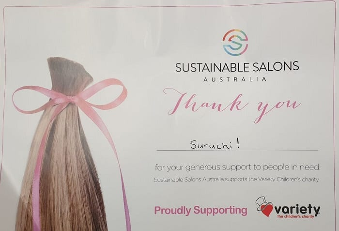 hair donation certificate