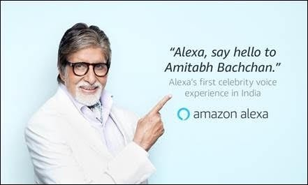 amitabh bachchan to be voice of alexa