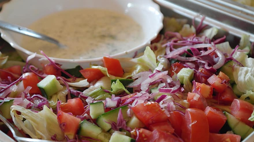 Indian style spring salad recipe for kachumber salad