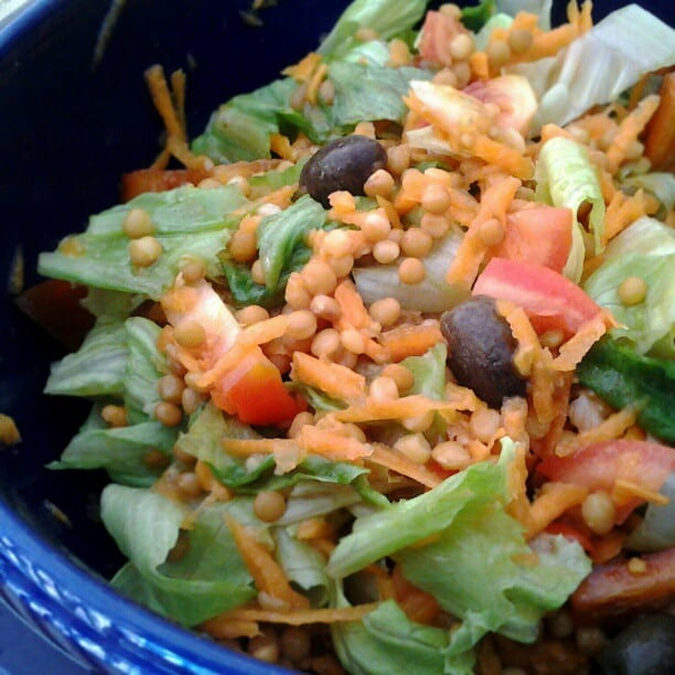 Indian style spring salad recipe for kosambri salad