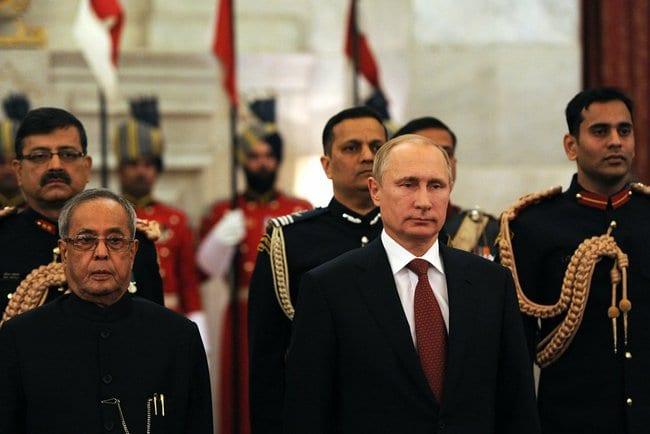 Pranab Mukherjee with Vladimir Putin