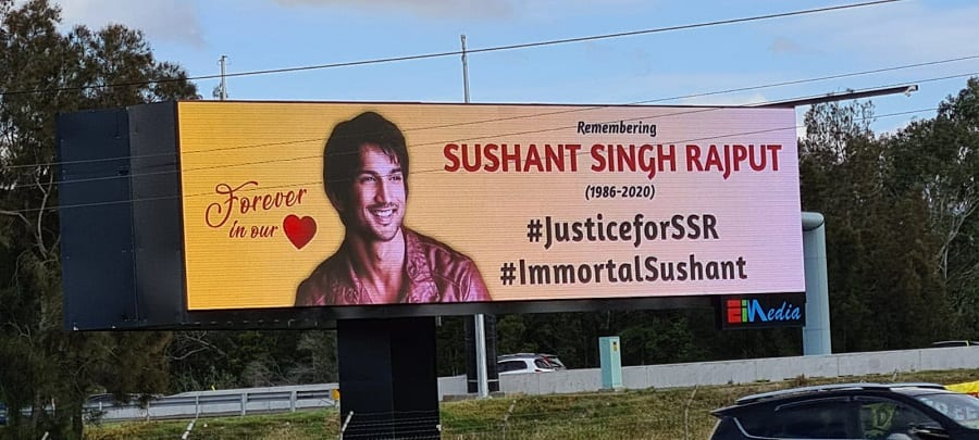 justice for ssr billboard in sydney