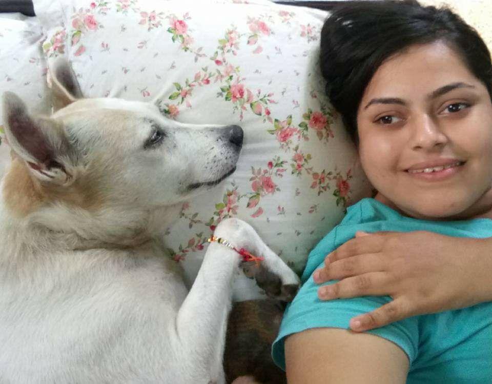 Sumedha with her pet Goru
