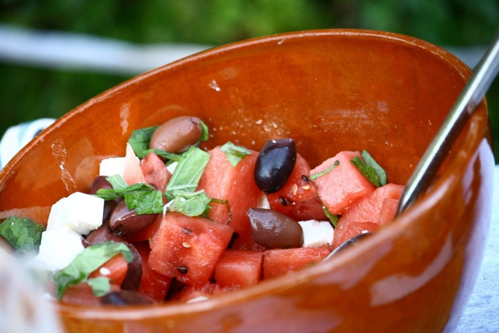 Indian style spring salad recipe for watermelon salad