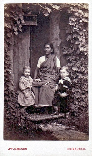an indian ayah with two children