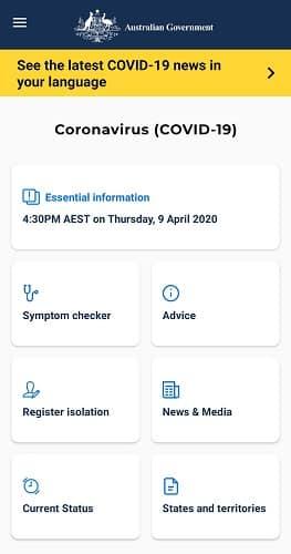 australia covid app