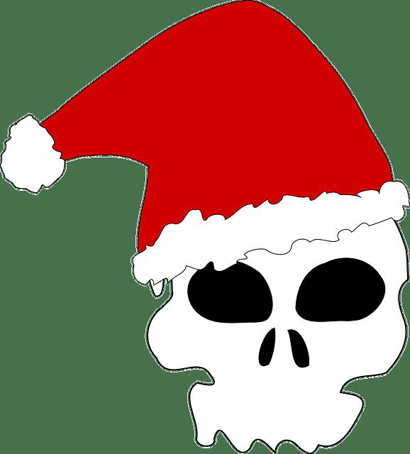 skull christmas