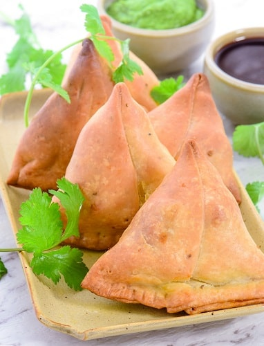 indian savoury snack samosa