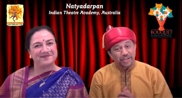 MCs Mukund and Ashwini Deshpande