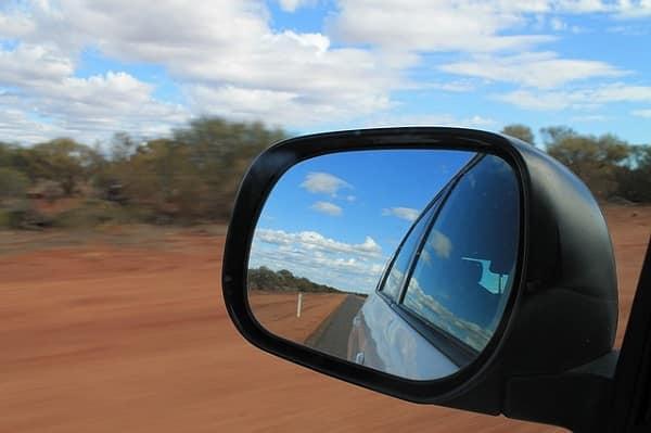 road trip rear view mirror