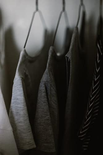 rack with clothes