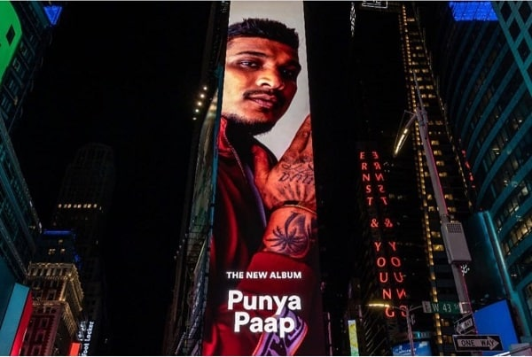 divine indian rapper in times square