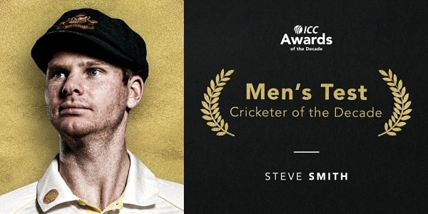 steve smith icc test cricketer of the decade